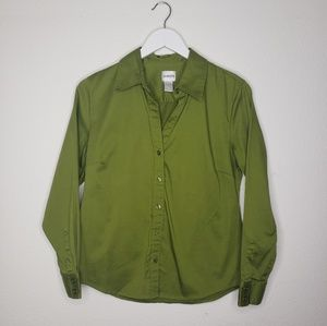 Chico's Chartreuse Green Button Down Shirt
